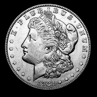1921 S ~**ABOUT UNCIRCULATED AU**~ Silver Morgan Dollar Rare US Old Coin! #912