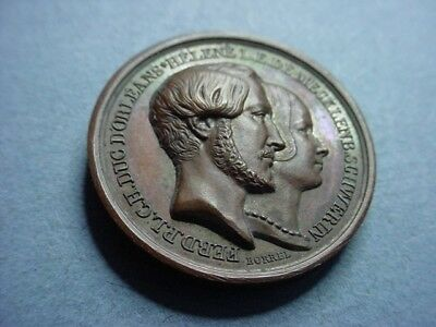 France Medal 1846 Duc D'Orleans Wife and Children