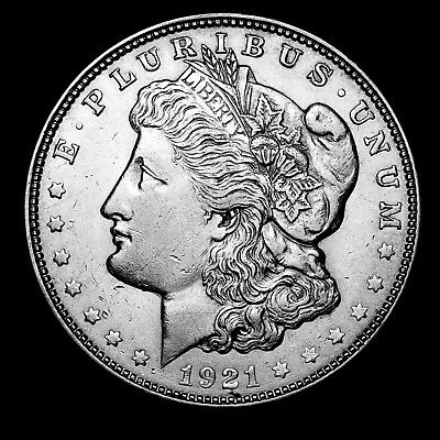 1921 D ~**ABOUT UNCIRCULATED AU**~ Silver Morgan Dollar Rare US Old Coin! #D31