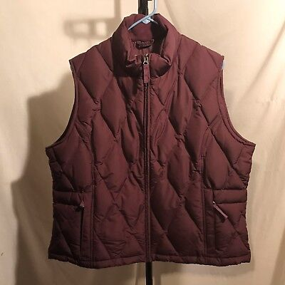 Eddie Bauer Goose Down Filled Polyester Women's XL Vest EXCELLENT Condition!
