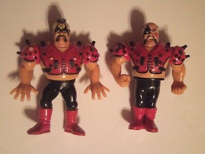 Lot Of 2 Vintage WWF Road warriors Hawk and Animal Action Figure Toys