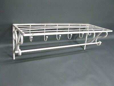 Coat Hat Rack Made of Metal Hook 51 cm x 20 cm Loft White