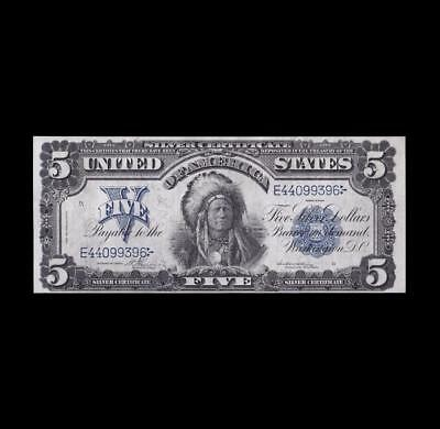 The Chief 1899 $5 Silver Certificate Strong Extra Fine