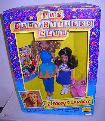 #4875 NRFB Vintage Remco the Babysitters Club Stacey & Charlotte Dolls