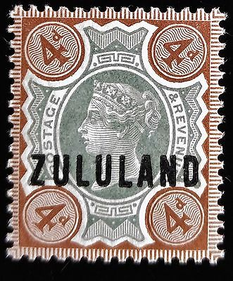 British Colonies, Zululand, 1888, SC 6, ovrprt on 4p green & deep brown stamp of