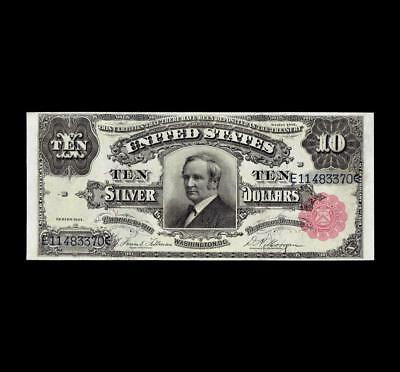 "Flawless 1891 $10 Silver Certificate ""tombstone"" Superb Gem Unc"