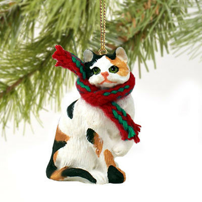 CALICO CAT Tiny One Miniature Christmas ORNAMENT