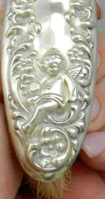 1904 Art Nouveau UNGER Bros CUPID Sterling Silver CLOTHES BRUSH