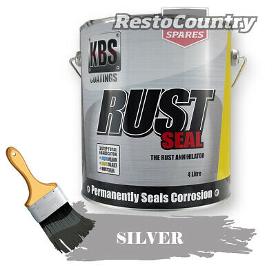 KBS RustSeal SILVER 4 Litre Rust Seal Paint Rust Preventive Coating four