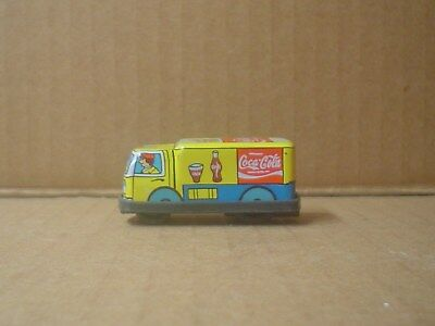 Miniature Coca-Cola Tin and Plastic Delivery Truck ~ Friction Motor ~ Japan
