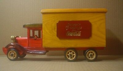 Coca Cola ~ Decorative Christmas Wood Delivery Truck ~ Trinket Storage Box