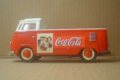 Coca Cola VW Volkswagen Plastic Pick Up ~ Red & White ~ Jato Toys