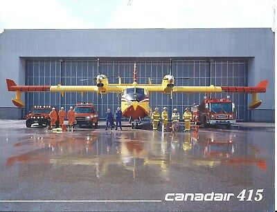 Brochure - Canadair - 415 - Water Bomber - Specification Summary - 1998 (B552)