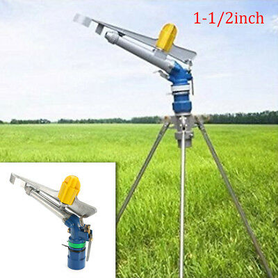 1.5'' 360° Adjustable Impact Sprinkler Gun Water Irrigation Lawn Garden Spray