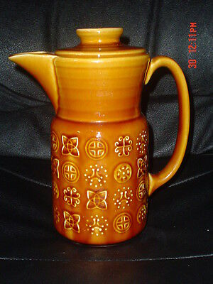 Lord Nelson Pottery Brown Tan Retro Coffee Pot