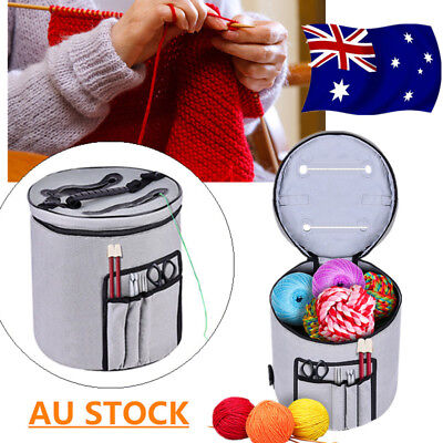 Pro Slot Knitting Bag Storage for Wool & Yarn Crochet Ball Needles Tub Protects