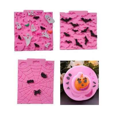Fondant Icing Chocolate Halloween Mould Party Dinner Silicone Cake Craft Mold 3D