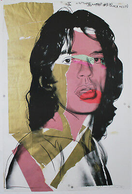 Andy Warhol - Mick Jagger - Farboffsetlithografie - im Druck signiert