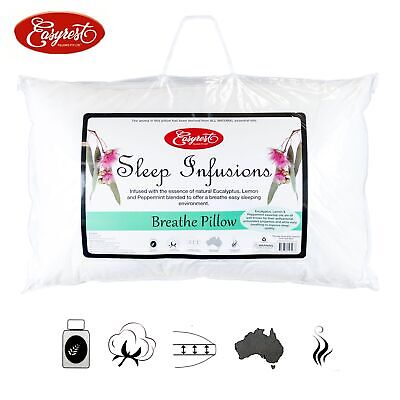 Sleep Infusions Eucalyptus Lemon and Pepermint Breathe Pillow 45 x 70 cm by Easy