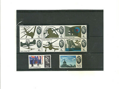 GB  1965    set of 8  Battle of Britain       mint  commemorative  stamps