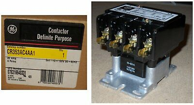 New GE CONTACTOR DEFINITE PURPOSE - CR353AC4AA1 - 30 Amps,4 Poles,Coil 110/120V