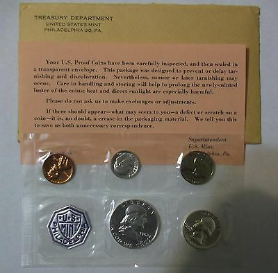 1962 U.s. Mint Silver Proof Set In Original Envelope & Wrapper With C.o.a.