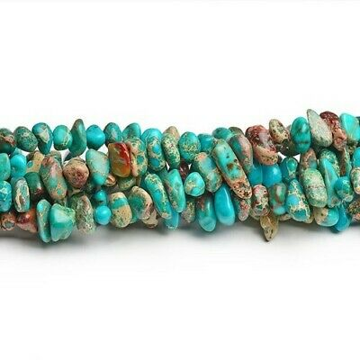 Impression Jasper Smooth Nugget Beads 8x12mm Turquoise 60+ Pcs Dyed  Handcut
