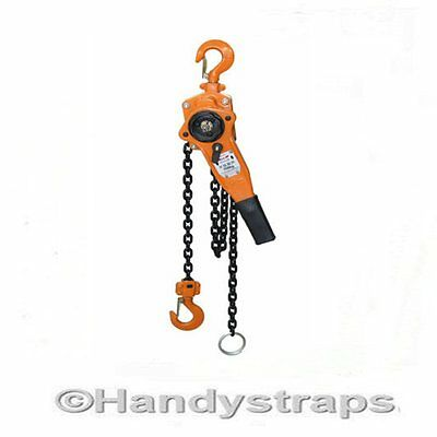 750Kg  0.75 ton Lever Hoist Block  ratchet winch pull lift 1.5 metre