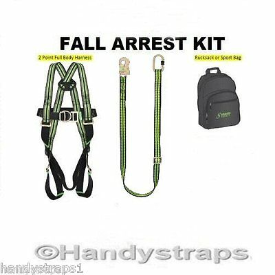 Kratos Full Body Safety Harness KIT/ FALL restraint C/W BAG AND 2 meter LANYARD