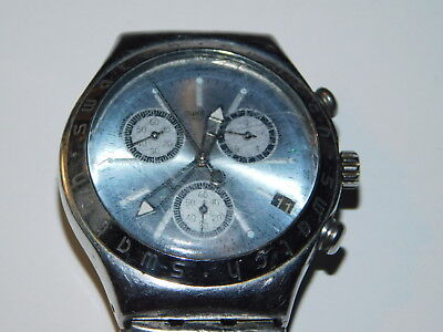 vintage MONTRE swiss IRONY 1997 SWATCH uhr SWITZERLAND V8 Chronograph SECRET