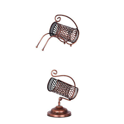 Lattice Design Single Wine Bottle Holder Iron Tabletop Wine Rack Bronze