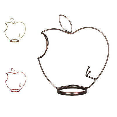 Metal Single Wine Bottle Holder Apple Shape Tabletop Iron Wine Rack Shelf