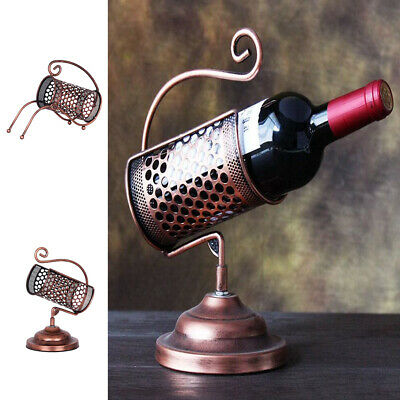 Wine Rack Iron Single Bottle Wine Stand Tabletop Wine Holder for Home Bar
