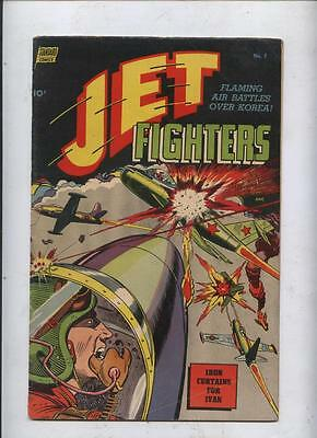Jet Fighters #7  golden age comic red Menace Korean war iron curtains for Ivan