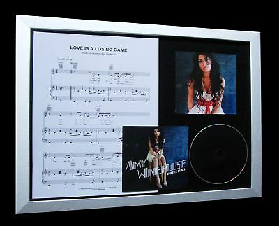AMY WINEHOUSE Love Is A Losing Game LTD Nod CD FRAMED!!