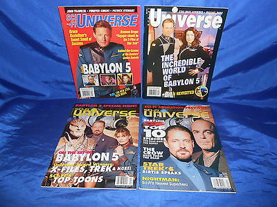 Sci-Fi Universe (1994) Lot of 4 Babylon 5 Covers 1996-99 Bruce Boxleitner VF/NM