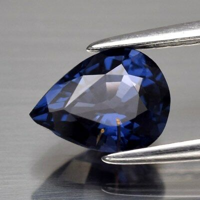 1.30ct 8x6mm Pear Natural Blue Spinel, Tanzania