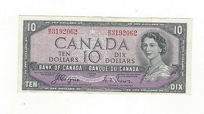 **1954 Devil's Face**Canada $10 Note, Coyne/Towers BC-32a, Ser# BD 3192062