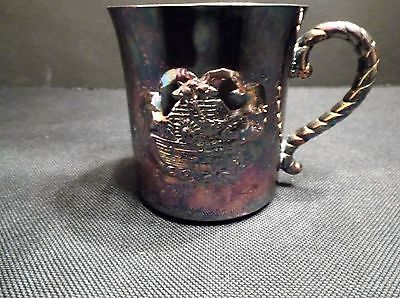 Gorham Silver Plated Baby Cup Noah's Ark YC 1868