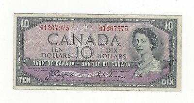 **1954 Devil's Face**Canada $10 Note, Coyne/Towers BC-32a, Ser# CD 1267975