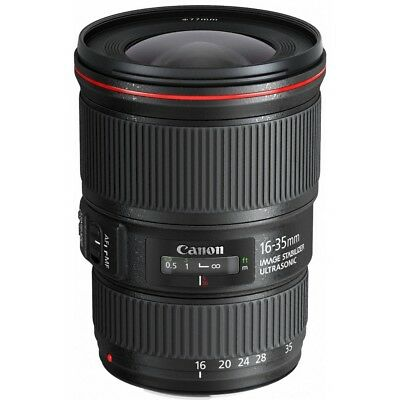 Canon 16-35mm f/4L IS USM With  Lens Case LP1219 and Lens Hood Ew-82