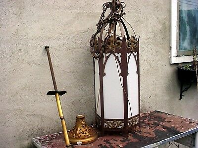 Vintage  Gothic Style HUGE Art Deco Gothic Church lights with extras