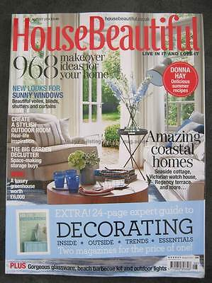 House Beautiful August 2014 Decorating Coastal Homes Makeover Ideas Gardens