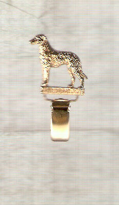 Deerhound Gold Plated Ring Clip Pin Jewelry