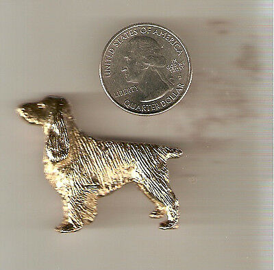 English Springer Spaniel Gold Plated Brooch Pin Jewelry LAST ONE!