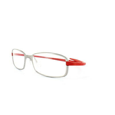 Tag Heuer Glasses Frames 3706 004 Pure Silver & Red