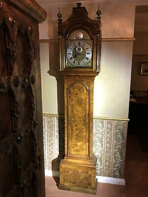 London Walnut 8 Day Longcase Clock by Thos Carrington c1750