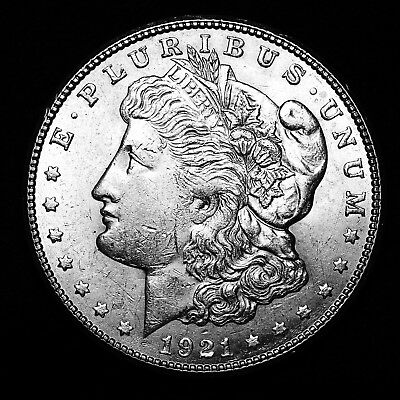 1921 S ~**ABOUT UNCIRCULATED AU**~ Silver Morgan Dollar Rare US Old Coin! #825