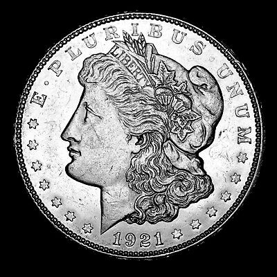1921 D ~**ABOUT UNCIRCULATED AU**~ Silver Morgan Dollar Rare US Old Coin! #654
