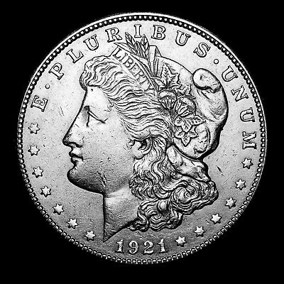 1921 S ~**ABOUT UNCIRCULATED AU**~ Silver Morgan Dollar Rare US Old Coin! #D39